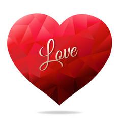Red heart vector