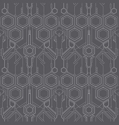 Abstract technology line pattern vector