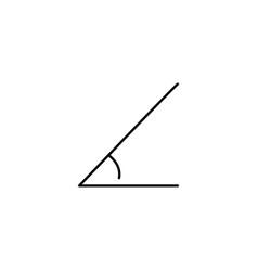 angle icon vector image
