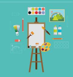 Art icons flat design vector