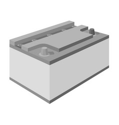 battery car single icon in monochrome style for vector image