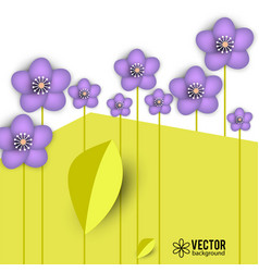 beautiful background with spring flowers vector image