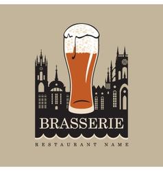 brasserie vector image
