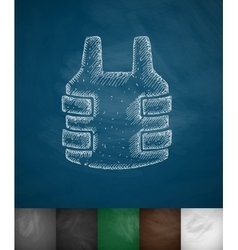 Bulletproof vest icon vector