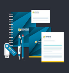 Business printed advertising items vector