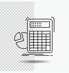 Calculator calculation math progress graph line vector