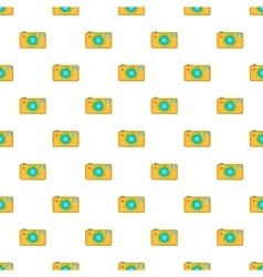 Camera pattern cartoon style vector