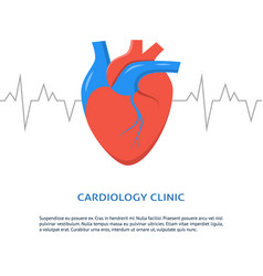 Cardiology clinic banner with place for text vector