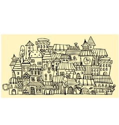 cartoon contour town vector image