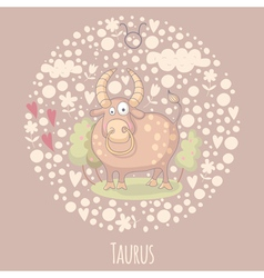 Cartoon of the bull Taurus vector image