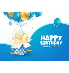 Celebrating 50th years birthday vector