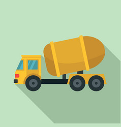 cement truck icon flat style vector image