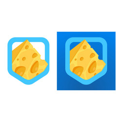 coat of arms with cheese logo for cheese vector image