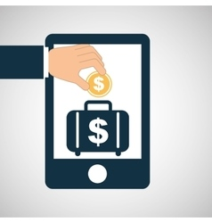 Concept saving portfolio money vector