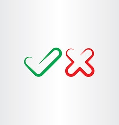 Correct true false yes no check mark icon vector