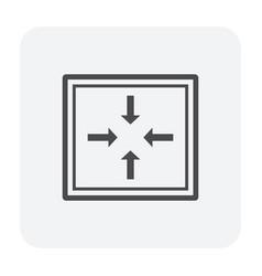 Deck drainage icon vector