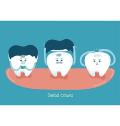 Dental crowns vector