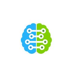 digital brain logo icon design vector image
