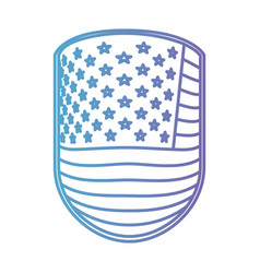 Emblem with flag united states of america in color vector