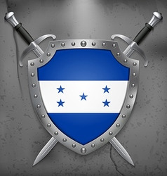 Flag of Honduras Medieval Background vector