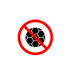 forbidden ball playing icon can be used for web vector image