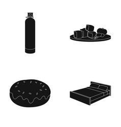 Furniture sports and or web icon in black style vector