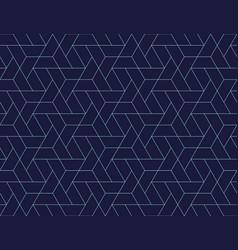 Geometric grid seamless pattern vector
