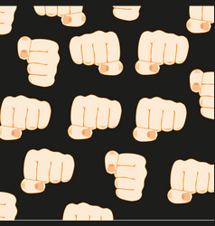 Gesture fist person vector