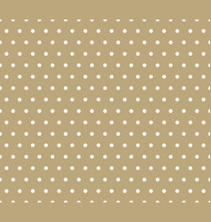 Golden polka dot seamless geometric pattern vector