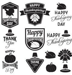 happy thanks giving day vector image