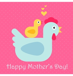 Hen And Chickens Mothers Day vector