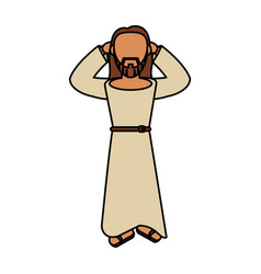 jesus christ faith catholic vector image
