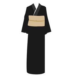 Kimono dress vector image