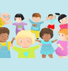Kindergarten multicultural preschool classmate vector