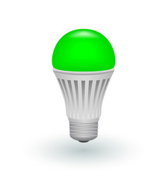 led green economical light bulb isolated on a vector image