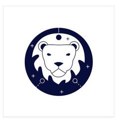 Leo flat icon vector