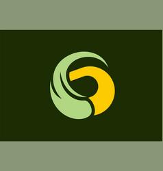 letter g swirl eco logo vector image