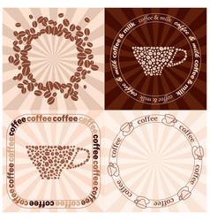 Light beige and dark brown coffee backgrounds vector