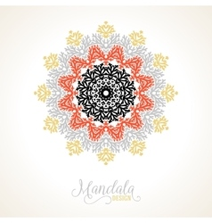 Madala round ornament vector
