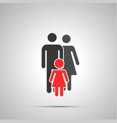 man and woman with daughter silhouette family vector image