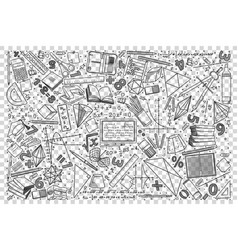 mathematics doodle set vector image