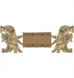 Mayan and inca tribal vector