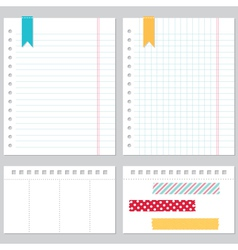 notebook paper set vector image