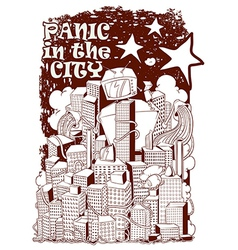 Panic in the city vector