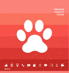 Paw symbol icon vector