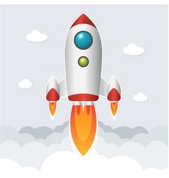 Rocket start up image vector