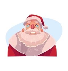 Santa Claus face crying facial expression vector image