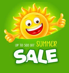seasonal summer sale advertisement banner vector image