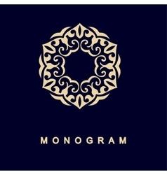Set of monogram logo template vector