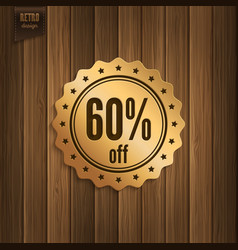 Sixty percent offer vector